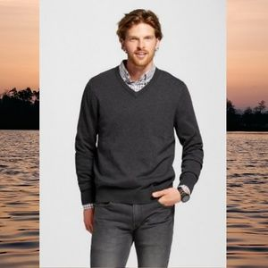 Merona Men's V Neck Sweater in Deep Charcoal